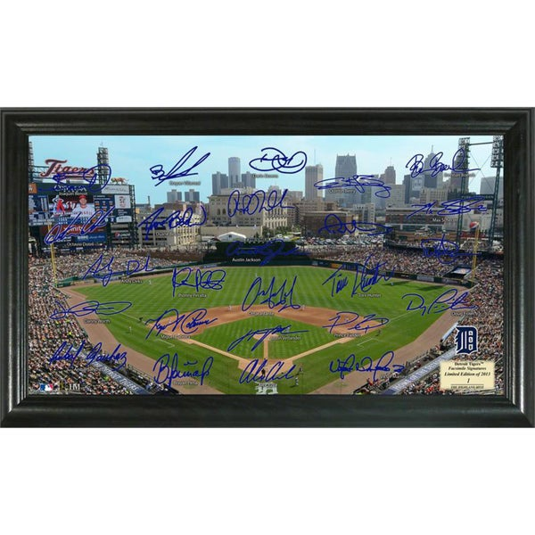 Highland Mint MLB Detroit Tigers Signature Field Frame