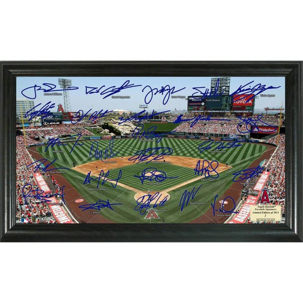 Highland Mint MLB Los Angeles Angels Signature Field Frame