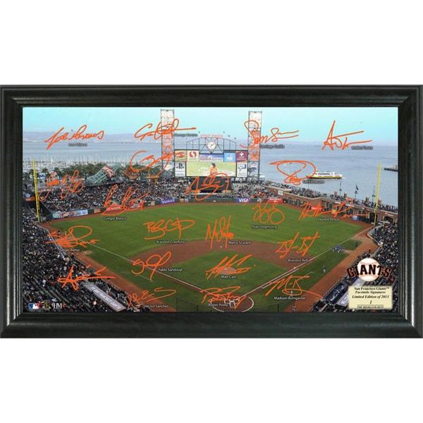 Highland Mint MLB San Francisco Giants Signature Field Frame