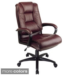 Office Star Products Work Smart Leather Chair
