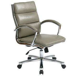 Office Star Products Work Smart Faux Leather Executive Chair