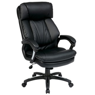 Office Star Products Work Smart Oversized Faux Leather Executive Chair