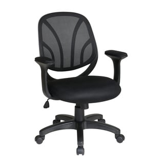 Office Star Products Work Smart Breathable Screen Back Manager's Chair