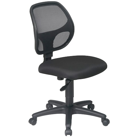 Office Star Work Smart Mesh Screen Back Task Chair with Vinyl Seat