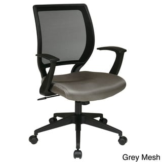 "Link to Office Star Work Smart Screen Back and Mesh Seat Task Chair with ""T"" Arms Similar Items in Office & Conference Room Chairs"
