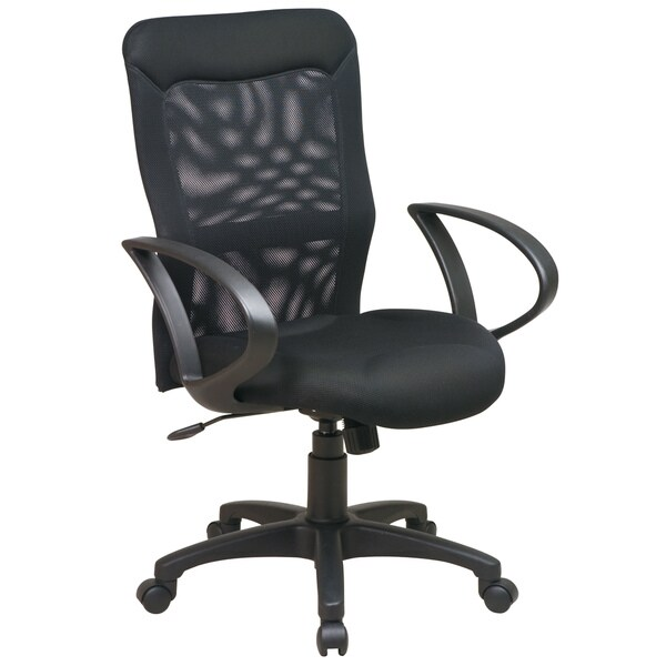 Office Star Products Work Smart Built In Lumbar Support Chair Free
