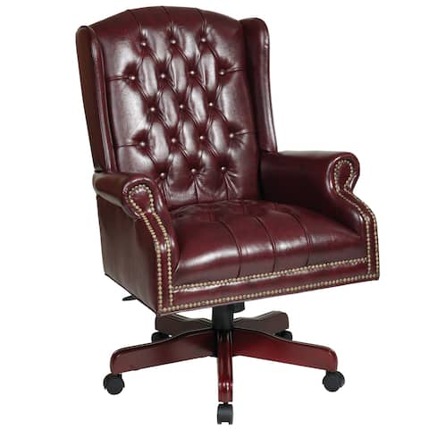 Deluxe High-Back Traditional Executive Office Chair