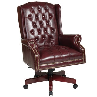 Office Star Products Work Smart Jamestown Vinyl Deluxe High Back Traditional Executive Chair