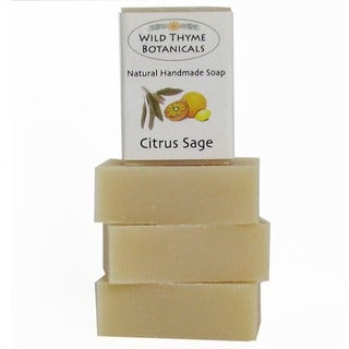 Citrus Sage Natural Handmade 3-bar Soap Trio Set