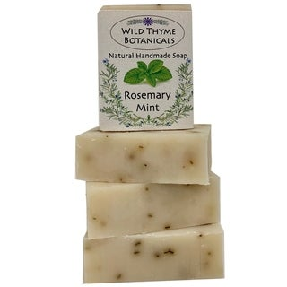 Creamy Goatsmilk and Mint Natural Handmade 3-bar Soap Trio