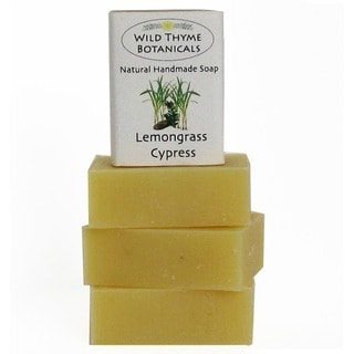 Lemongrass and Cypress Natural Handmade 3-bar Soap Trio