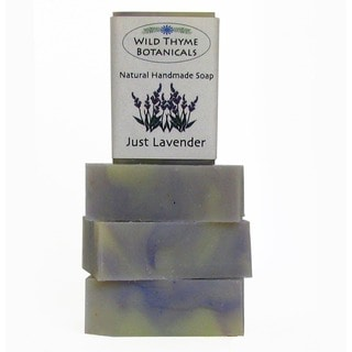 Just Lavender Natural Handmade 3-bar Soap Trio
