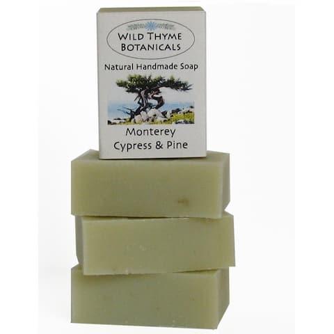 Monterey Cypress and Pine Natural Handmade 3-bar Soap Trio