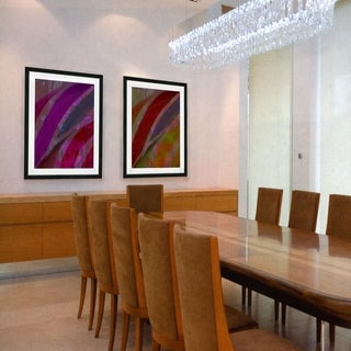 Studio Works Modern 'Cinnabar - Purple' Framed Fine Art Giclee Print