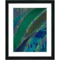 Studio Works Modern 'Cinnabar - Aqua' Framed Print