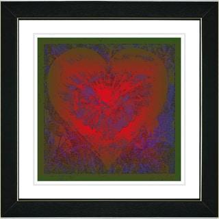 Studio Works Modern 'Filigree Heart - Red' Framed Print