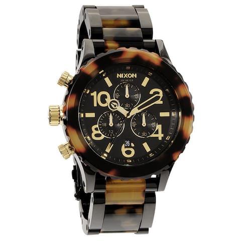 Nixon Men's '42-20 Chrono' Tortoise Shell Watch - Two-tone