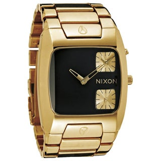 Nixon Men's 'Banks' Gold/ Black Watch