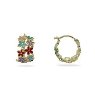 Junior Jewels 18K Gold Overlay Children's Enamel Flowers Hoop Earrings|https://ak1.ostkcdn.com/images/products/7969828/7969828/18K-Gold-Overlay-Childrens-Enamel-Flowers-Hoop-Earrings-P15340319.jpg?impolicy=medium