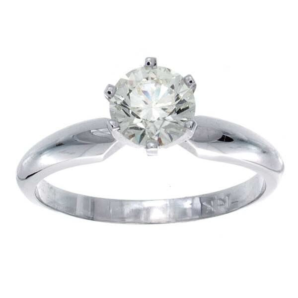 Victoria Kay 14k Gold 3/4ct TDW Certified Diamond Engagement Ring