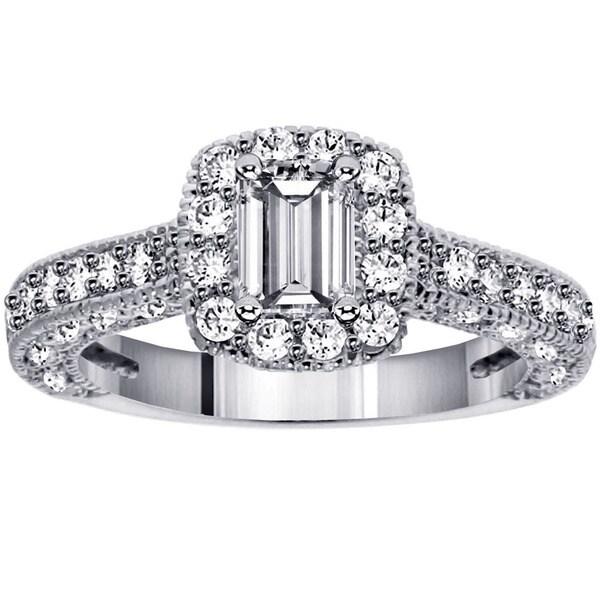 14k White Gold 1 7/8ct TDW Diamond Engagement Ring (F-G, SI1-SI2)