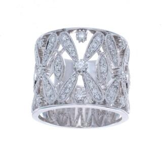 Victoria Kay 14k White Gold 7/8ct TDW Diamond Vintage Design Ring (I-J, I1-I2)