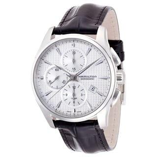 Hamilton Men's 'Jazzmaster Auto Chrono' Watch|https://ak1.ostkcdn.com/images/products/7969929/Hamilton-Mens-Jazzmaster-Auto-Chrono-Watch-P15340386.jpg?impolicy=medium