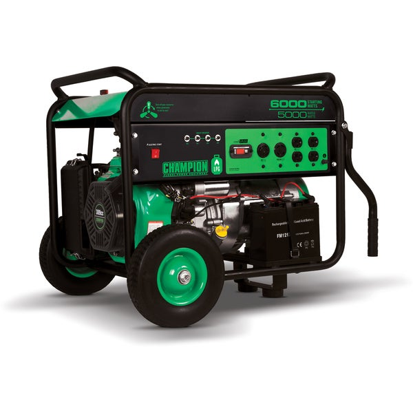 Champion Power Equipment 71330 Portable LPG Electric Start 5000/ 6000-watt Generator CARB