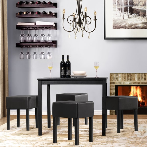 Tribecca Home Joyce Black 5-piece Dining Set