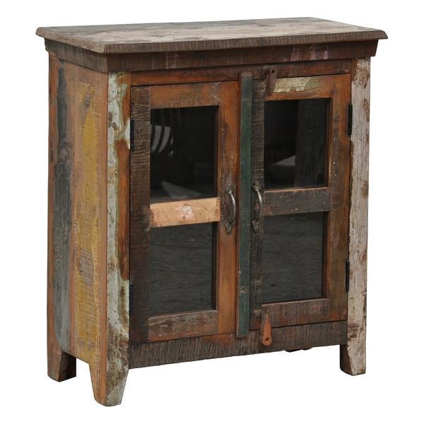 Kosas Home Channy Brown 2-door Glass Cabinet