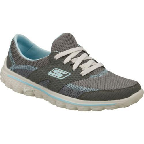 a6ef0366265ddc Shop Women s Skechers GOwalk 2 Stance Gray Blue - Free Shipping Today -  Overstock.com - 7970097