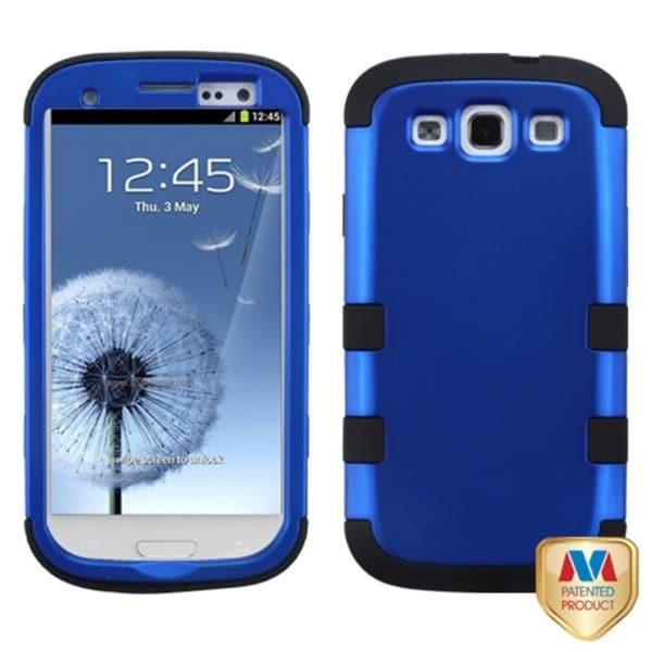 INSTEN Blue/ Black TUFF Hybrid Phone Case Cover for Samsung Galaxy S3/ S III i9300