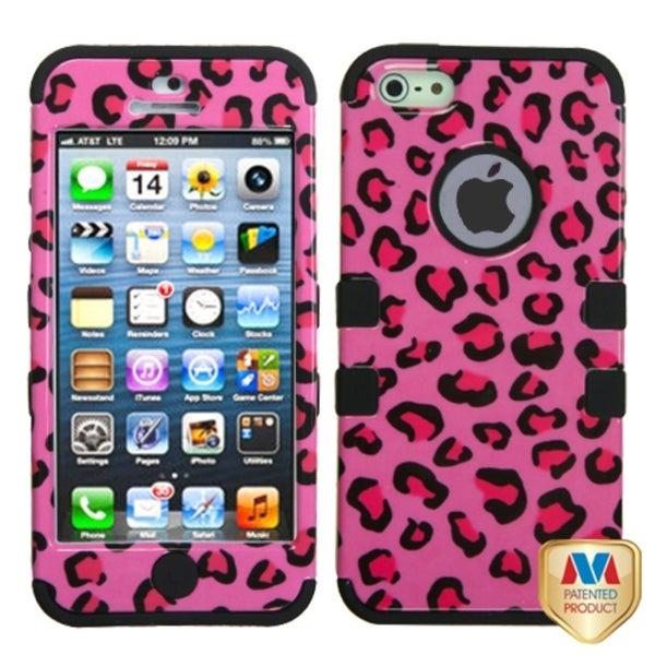 BasAcc Pink Leopard Hybrid Case for Apple iPhone 5
