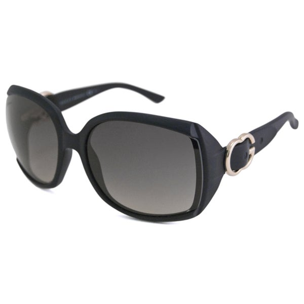 Gucci Women's GG3511 Black/Gray Rectangular Sunglasses