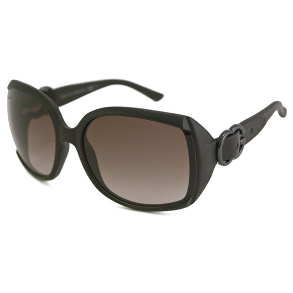 Gucci Women's GG3511 Dark Brown/Brown Rectangular Sunglasses