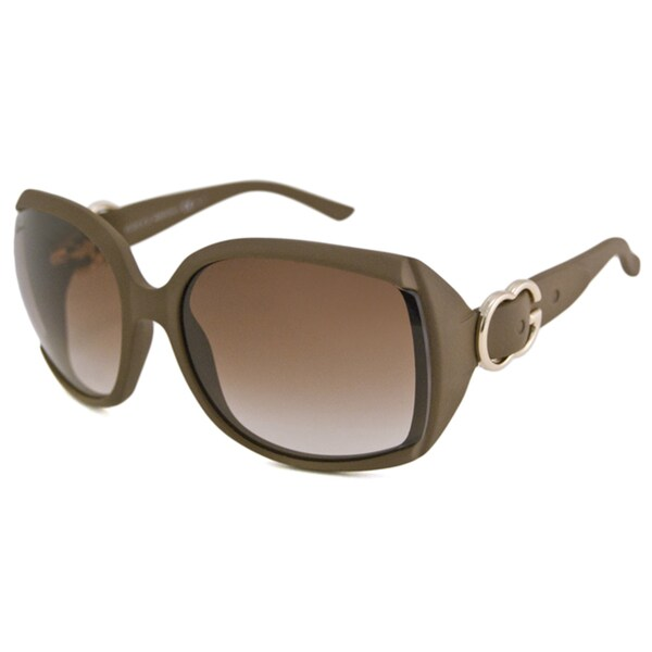 Gucci Women's GG3511 Brown/Brown Rectangular Sunglasses