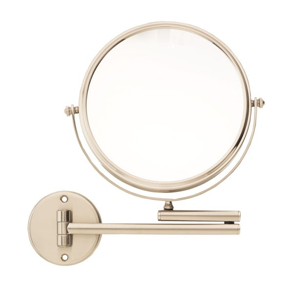Danielle Satin Nickel Wall Mounted Vanity Mirror