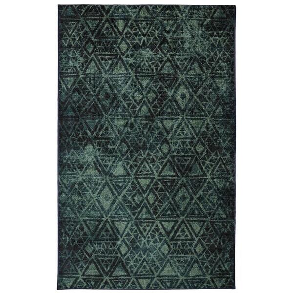 Indie Pattern Blue Green Rug (8' x 10')