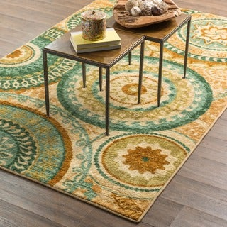 Mohawk Home Strata Forest Suzani Area Rug (7'6 x 10')