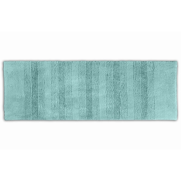 Somette Westport Stripe Sea Foam 22 x 60 Washable Bath Runner Rug