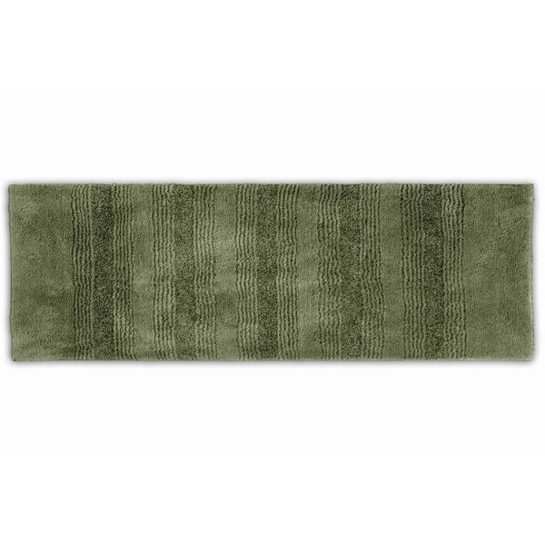 Somette Westport Stripe Deep Fern 22 x 60 Washable Bath Runner Rug