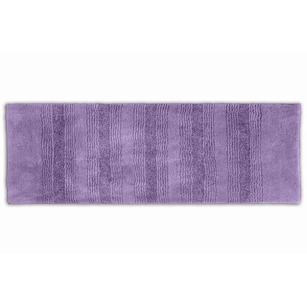 Somette Westport Stripe Purple 22 x 60 Washable Bath Runner Rug