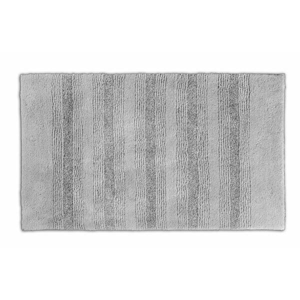 Somette Westport Stripe Platinum Grey 24 x 40 Washable Bath Rug