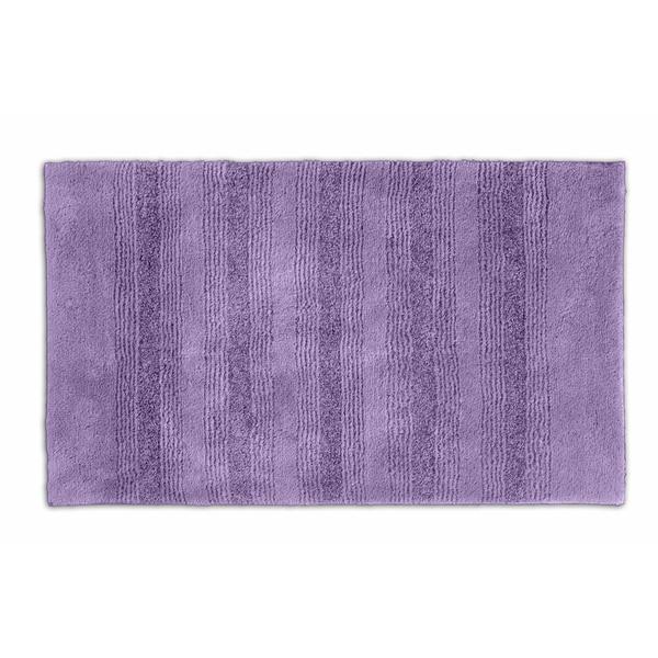 Somette Westport Stripe Purple Washable 24 x 40 Bath Rug