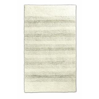 Somette Westport Stripe Ivory 24 x 40 Washable Bath Rug