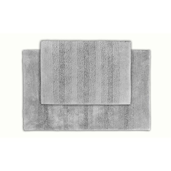 Shop Somette Westport Platinum Grey Stripe Washable 2