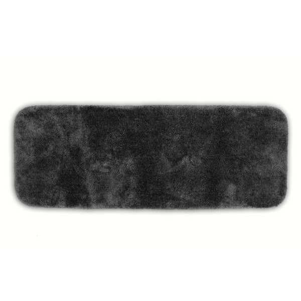Somette Posh Plush Charcoal Washable 22 x 60 Bath Runner
