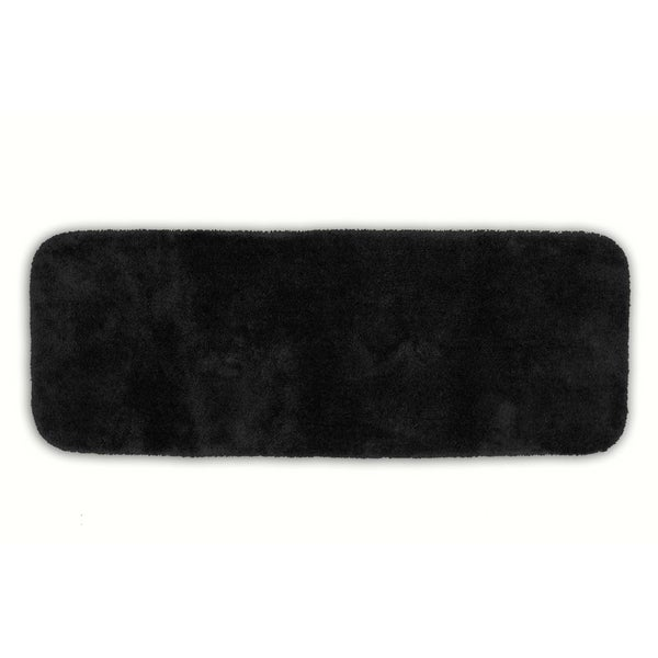 Somette Posh Plush Black Washable 22 x 60 Bath Runner Rug