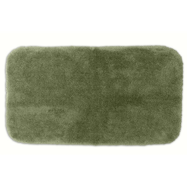 Somette Posh Plush Deep Fern Washable 30 x 50 Bath Rug