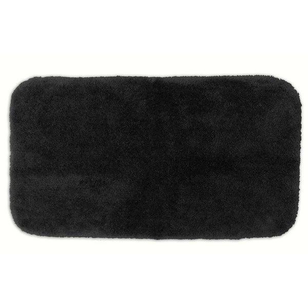 Somette Posh Plush Black Washable 30 x 50 inch Bath Rug